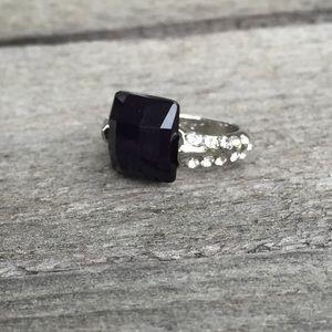 ‼️3/$30 Black Onyx & Rhinestone Statement Ring